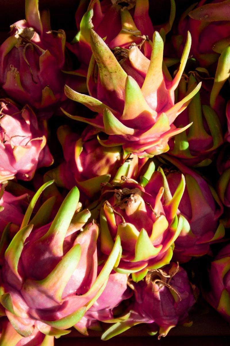 eh vegan big island kona hawaii pitaya dragon fruit farmers market