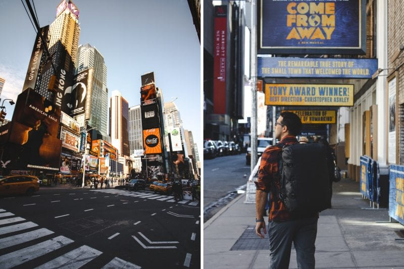 eh vegan quick trip to new york city times square come from away